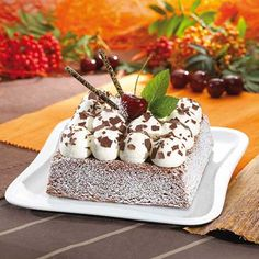 Black Forest Picco Quattro Cake. Love this rendition of Black Forest cake.