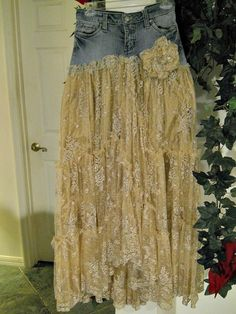 Belle Bohémienne ballroom jean skirt exquisite by bohemienneivy
