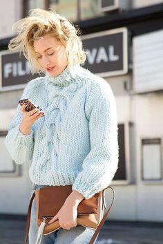 Zanita Whittington takes on a knitted jumper.