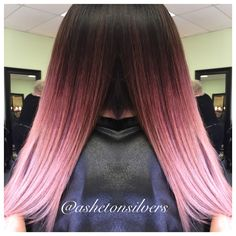 Rose gold ombre color melt , pastel pink by Asheton Silvers