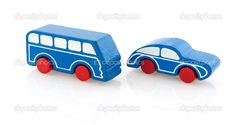 Wooden toy car and bus — Stock Photo © ivonnewierink #3142163