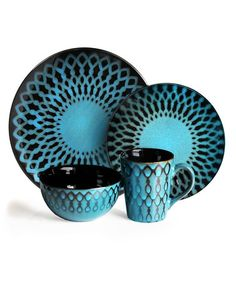 Take a look at this American Atelier Sicily Blue Dinnerware - Set of 16 by Jay Import on #zulily today!
