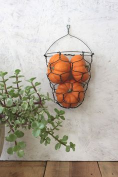 Handmade Wire Wall Hanging Basket by CharestStudios on Etsy