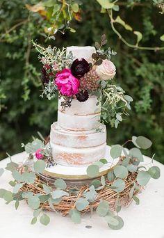 Sinfully Sweet Cake Design- Weddings | eucalyptus and peony cake | bird nest inspired