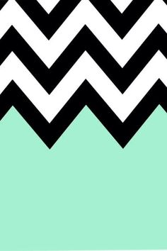 Turquoise Chevron iPhone Background