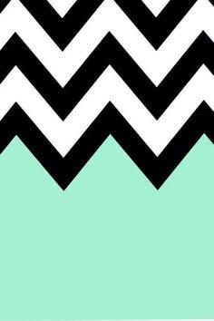 Turquoise Chevron iPhone Background