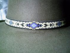 Tapestry beaded hat band, Native American style beaded hat band | ajwhatbands - Accessories on ArtFire