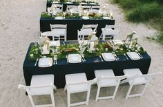 Beach Wedding And Good Food - Inspired Bride