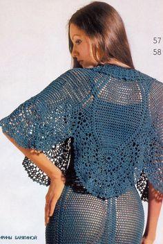 round sleeves crochet top