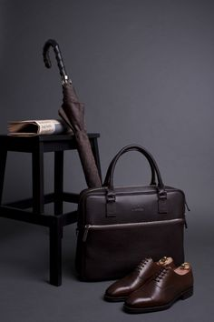 Leather briefcase from Sartolane.