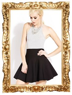 High-Waisted Skater Skirt - $27.80