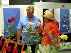 Rowan Rose Society's 56th annual rose show began Saturday at West End Plaza, the former Salisbury Mall. Nineteen rose growers entered this year's show.