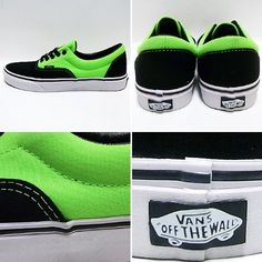 Vans Skateboarding Shoes - Black/Green - by Vans. $49.00. Classic low top shoes2-Tone canvas upperRubber outsole. Save 11%!