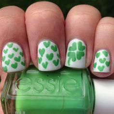 Más de 50 Uñas decoradas de San Patricio – St Patricks Day Nail art   Decoración de Uñas - Manicura y Nail Art
