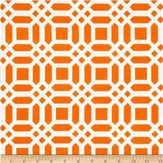 fabric.com Riley Blake Home Decor Vivid Lattice Tangerine