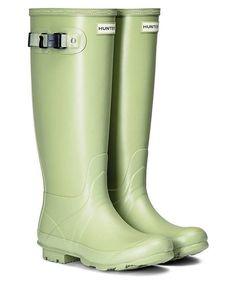Women's Hunter Norris Field Neoprene Wellington Boots - Field Green