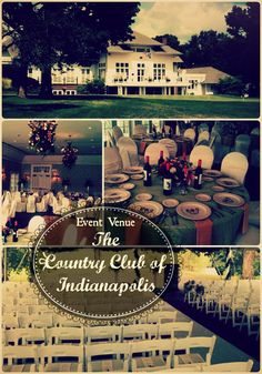 We adore the Country Club of Indianapolis. Tucked away on Indy's westside, the venue offers several distinct functional areas both with great indoor and outdoor options!  Plus, there's the added bonus of a golf course! (Don't miss the scene out the back windows!)