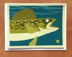 Walleye Note Card
