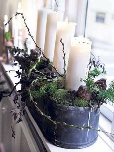 chrismas-decoration-window-decorating-candle-centerpieces