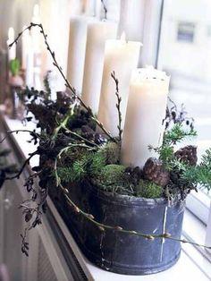 chrismas-decoration-window-decorating-candle-centerpieces