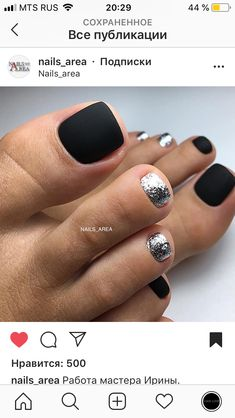 Oct 2019 - 39 Stunning Toe Nail Designs Ideas For Winter 43 Pretty Toe Nails, Cute Toe Nails, Get Nails, Fancy Nails, Gorgeous Nails, Love Nails, Hair And Nails, Pretty Toes, Toe Nail Color