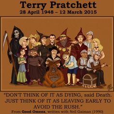 Death by Terry Pratchett I Love Books, Good Books, My Books, Terry Pratchett Discworld, Fantasy Authors, Word Nerd, Neil Gaiman, Book Fandoms, Writers