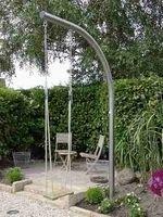 Topswing orginal design schommel Backyard Drainage, Backyard Swings, Pergola Swing, Backyard Playground, Small Gardens, Outdoor Gardens, Dream Garden, Home And Garden, Swing Set Plans