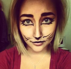 I tried out Halloween cat makeup instead of doing my paper. Cat Halloween Makeup, Cat Makeup, Witch, Cat Makeup For Halloween, Witches, Witch Makeup, Wicked, Maleficent, The Witcher