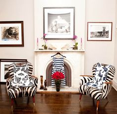 Those zebra chairs are amazing!  I'd take the Kate Spade dresses too of course!