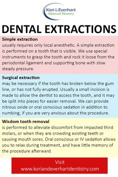EXTRACTIONS Extractions handled by the dental team you know and trust in Franklin and Centerville Areas To learn more, visit Kori & Everhart Advanced Dentistry - Dental Extraction, Tooth Extraction Aftercare, Tooth Extraction Healing, Oral Health, Dental Health, Dental Care, Dental Hygiene School, Dental Assistant, Fix Teeth