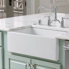Farm sinks are a poplar choice with our clients these days. by @stonecrofthomes