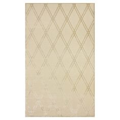 Add elegant appeal to your living room or den with this stylish wool rug, featuring a diamond motif in ecru.    Product: Rug