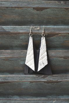 Handmade Leather Earrings from Thailand #125 · Purchase Effect · Online Store Powered by Storenvy