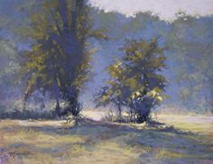 Georgia Morning Mist by Barbara Jaenicke Pastel ~ 11 x 14
