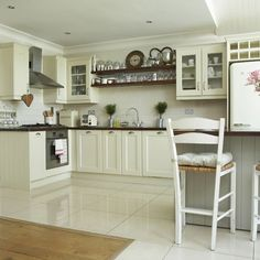 White Kitchen Floor Ideas white kitchen with oak worktop - do you think it looks better with