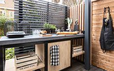 Bbq Kitchen, Diy Outdoor Kitchen, Summer Kitchen, Outdoor Cooking, Outdoor Decor, Outdoor Grill Area, Outdoor Areas, Side Garden, Swimming Pools Backyard
