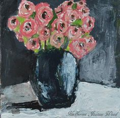Acrylic Palette Knife Painting Flower Series No 2