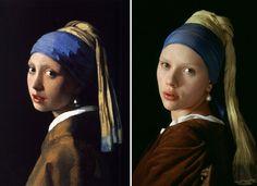 "Remake del dipinto ""Ragazza col Turbante"" di Johannes Vermeer"