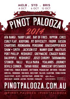 Pinot Palooza 2014 Line up is now live!