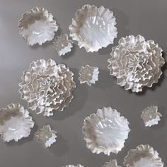 """Global Views Carnation Pearl White Wall Flower @Zinc_Door  948 for just 1  19"""" Dia x 8""""D"""