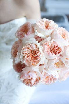 peony or garden rose blush bouquet