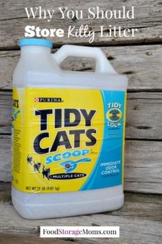 WHY YOU SHOULD STORE KITTY LITTER