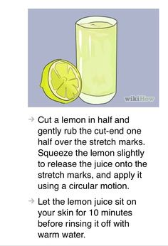 A natural way to get rid of stretch marks
