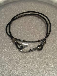 Fishing Hook Handmade Bracelet by designbyafney on Etsy