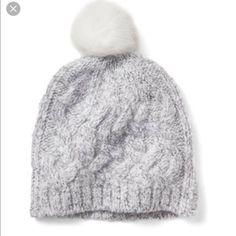 97285c3f413 Banana Republic Pom Pom Beanie Cable Knit Hat