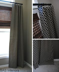 "Tutorial on How to make simple lined window drapery panels. @Chad Henderson this could be a good black out curtain while still looking nice, and even have that type of blind behind it for extra ""blockage"""