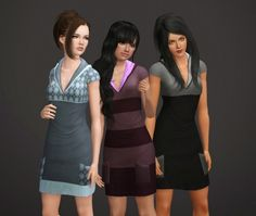 3a4061b380d Hooded Sweater Dress Edit by NyGirl - Sims 3 Downloads CC Caboodle