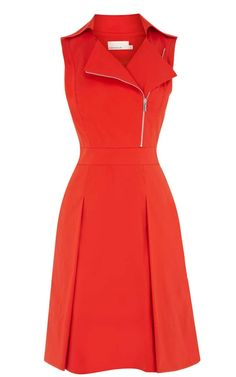 Red Lapel Sleeveless Zipper Ruffles Dress, Color : Red Material : Polyester Sleeve Length : Sleeveless Silhouette : Shift Dress Length : Knee Length Style : Going Out Pattern Type : Plain. Lovely Dresses, Day Dresses, Beautiful Outfits, Casual Dresses, Short Dresses, Fashion Dresses, Dresses For Work, Office Dresses For Ladies, Sleeve Dresses
