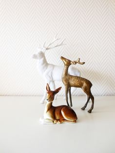Cute deer statues