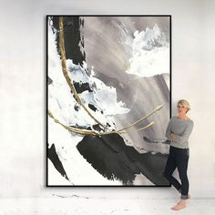 Black And White Abstract, White Art, White Gold, Abstract Canvas Art, Abstract Painting Modern, Colorful Abstract Art, Mural Painting, Acrylic Paintings, Gold Art